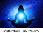woman in yoga pose | Shutterstock . vector #1077982097
