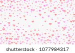heart watercolor shape  pink... | Shutterstock . vector #1077984317