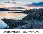dusk over shiledaig in the... | Shutterstock . vector #1077994691