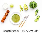 healthy snacks spinach pancakes ... | Shutterstock . vector #1077995084