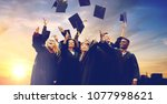 education  graduation and... | Shutterstock . vector #1077998621