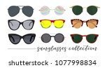 sunglasses collection vector... | Shutterstock .eps vector #1077998834