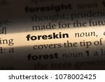 Small photo of foreskin word in a dictionary. foreskin concept