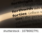 forties word in a dictionary.... | Shutterstock . vector #1078002791