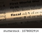 fiscal word in a dictionary.... | Shutterstock . vector #1078002914