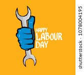 1 may   happy labour day.... | Shutterstock .eps vector #1078004195