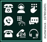 set of 9 telephone filled icons ... | Shutterstock .eps vector #1078016051