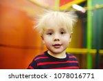 fanny hairstyle of little boy... | Shutterstock . vector #1078016771