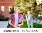 young happy successful student... | Shutterstock . vector #1078018427