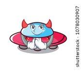 devil ufo mascot cartoon style   Shutterstock .eps vector #1078030907
