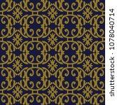 antique seamless background... | Shutterstock .eps vector #1078040714