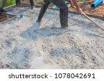 builder  fine cement floor  | Shutterstock . vector #1078042691