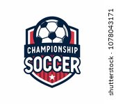 soccer football league logo... | Shutterstock .eps vector #1078043171