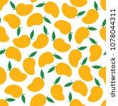 mango seamless pattern...   Shutterstock .eps vector #1078044311