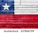 the chile flag painted on... | Shutterstock . vector #107806709