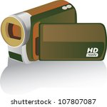 brown colored hd camcorder  ...