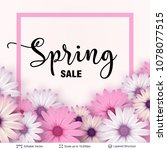 spring season flowers and sale...   Shutterstock .eps vector #1078077515