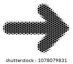 halftone dot right arrow icon.... | Shutterstock .eps vector #1078079831