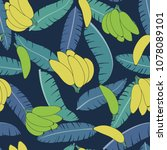 tropical background with palm... | Shutterstock .eps vector #1078089101