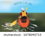 kayaking adventure great...   Shutterstock .eps vector #1078090715