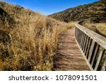 walk along this road to the... | Shutterstock . vector #1078091501