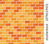 brick wall background. seamless ... | Shutterstock .eps vector #1078119431