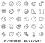thin line icon set   24 hours... | Shutterstock .eps vector #1078124264