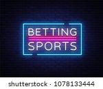 betting sports vector. betting... | Shutterstock .eps vector #1078133444