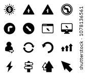 solid vector icon set   dollar... | Shutterstock .eps vector #1078136561