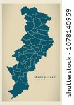 modern city map   manchester... | Shutterstock .eps vector #1078140959