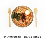 hot and spicy instant noodle... | Shutterstock . vector #1078148591