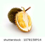 close up of peeled durian...   Shutterstock . vector #1078158914