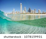 surfers paradise from the water ... | Shutterstock . vector #1078159931