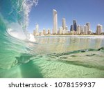 surfers paradise from the water ... | Shutterstock . vector #1078159937
