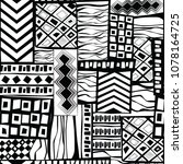 abstract black and white... | Shutterstock .eps vector #1078164725