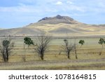 autumn landscape  steppe with... | Shutterstock . vector #1078164815