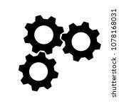 vector of three cog  gear  icon ... | Shutterstock .eps vector #1078168031