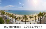 view of salou platja llarga... | Shutterstock . vector #1078179947