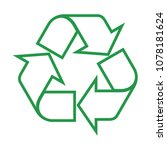 recycle icon vector | Shutterstock .eps vector #1078181624