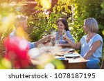in summer  a group of friends... | Shutterstock . vector #1078187195