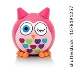 Owl Toy Isolated On White...