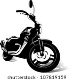 black sports bike (vector illustration)