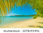beautiful tropical beach and... | Shutterstock . vector #1078191941