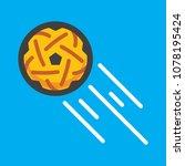 sepak takraw ball | Shutterstock .eps vector #1078195424
