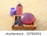 bar of glycerine soap with dry...   Shutterstock . vector #10782031