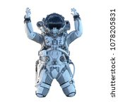 astronaut on white. mixed media | Shutterstock . vector #1078205831