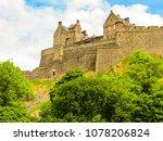 edinburgh castle on the rock... | Shutterstock . vector #1078206824