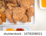 fried chicken chest and legs | Shutterstock . vector #1078208021