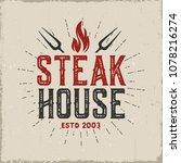 restaurant vintage label.vector ...   Shutterstock .eps vector #1078216274