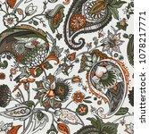 paisley. a seamless pattern...   Shutterstock .eps vector #1078217771